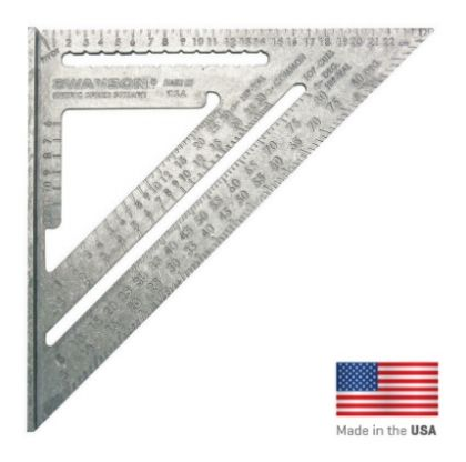 Прав Ъгъл SWANSON Metric Speed Square 25cm